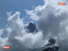 The Aiguille du Midi through cloud